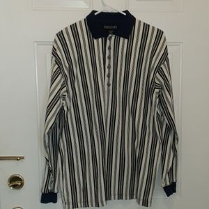 Structure Men's Long Sleeve Shirt Striped Vintage
